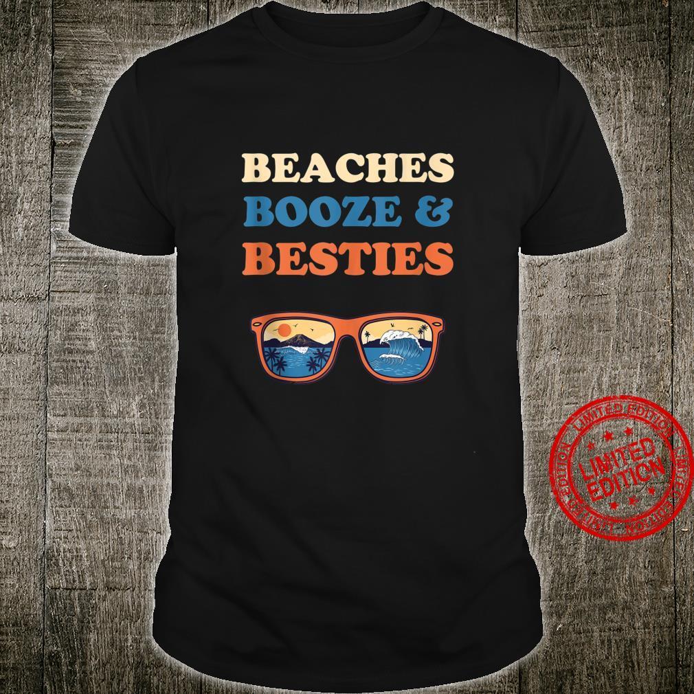 Beaches Booze And Besties Bachelorette Beach Vacation Shirt