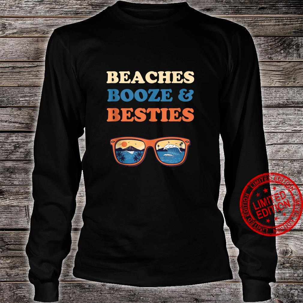 Beaches Booze And Besties Bachelorette Beach Vacation Shirt long sleeved