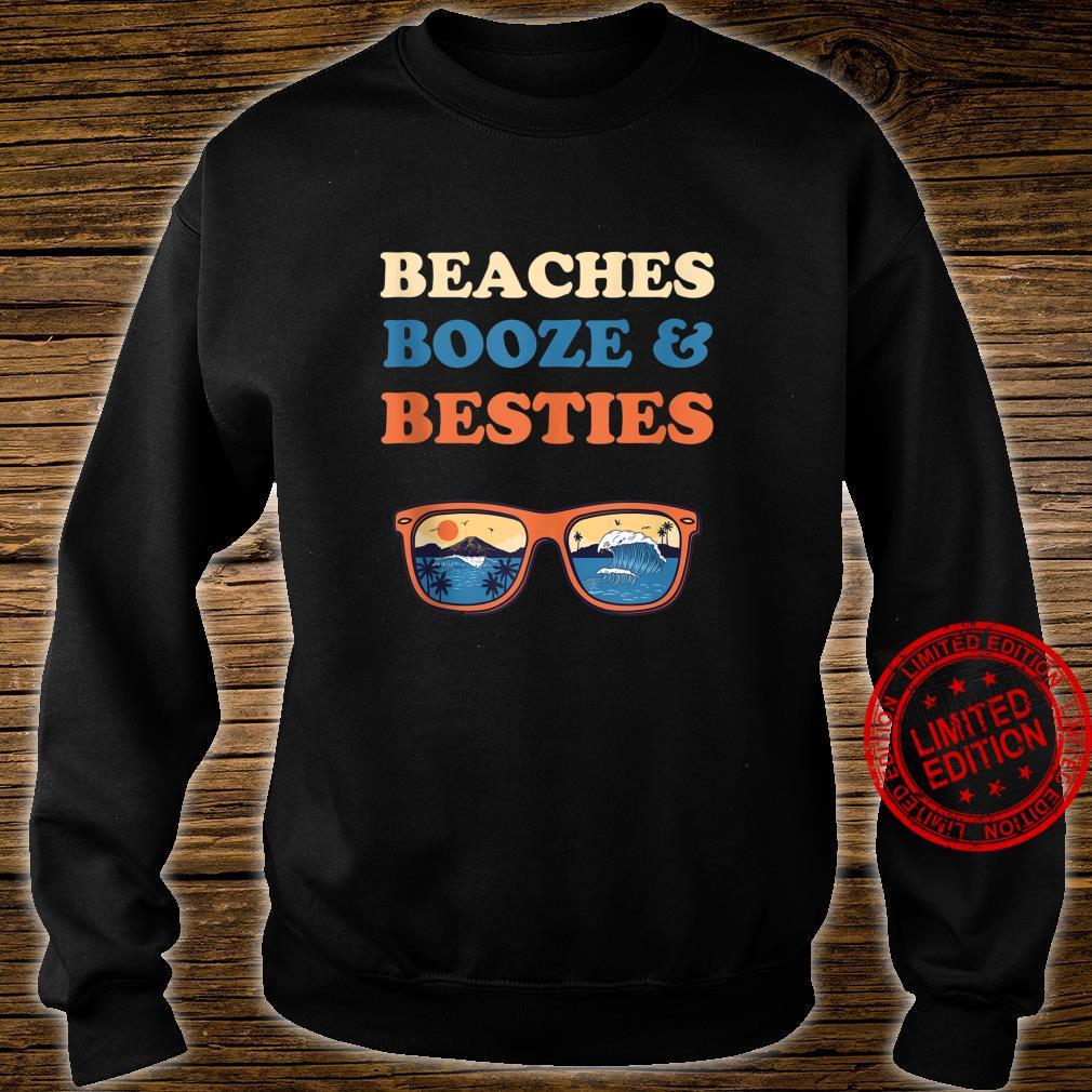 Beaches Booze And Besties Bachelorette Beach Vacation Shirt sweater