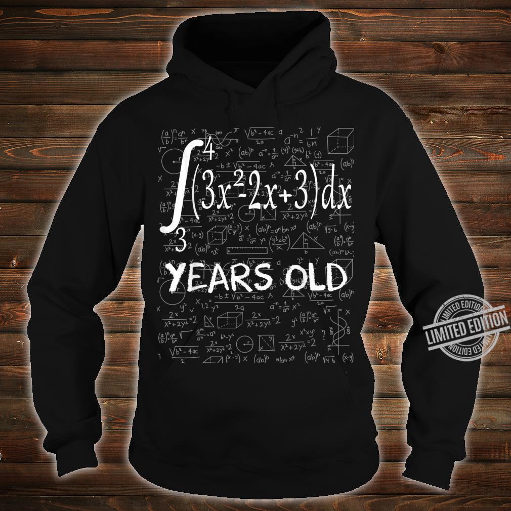 Funny Math Geek Integral Calculus 33rd Birthday 33 Years Old Shirt hoodie