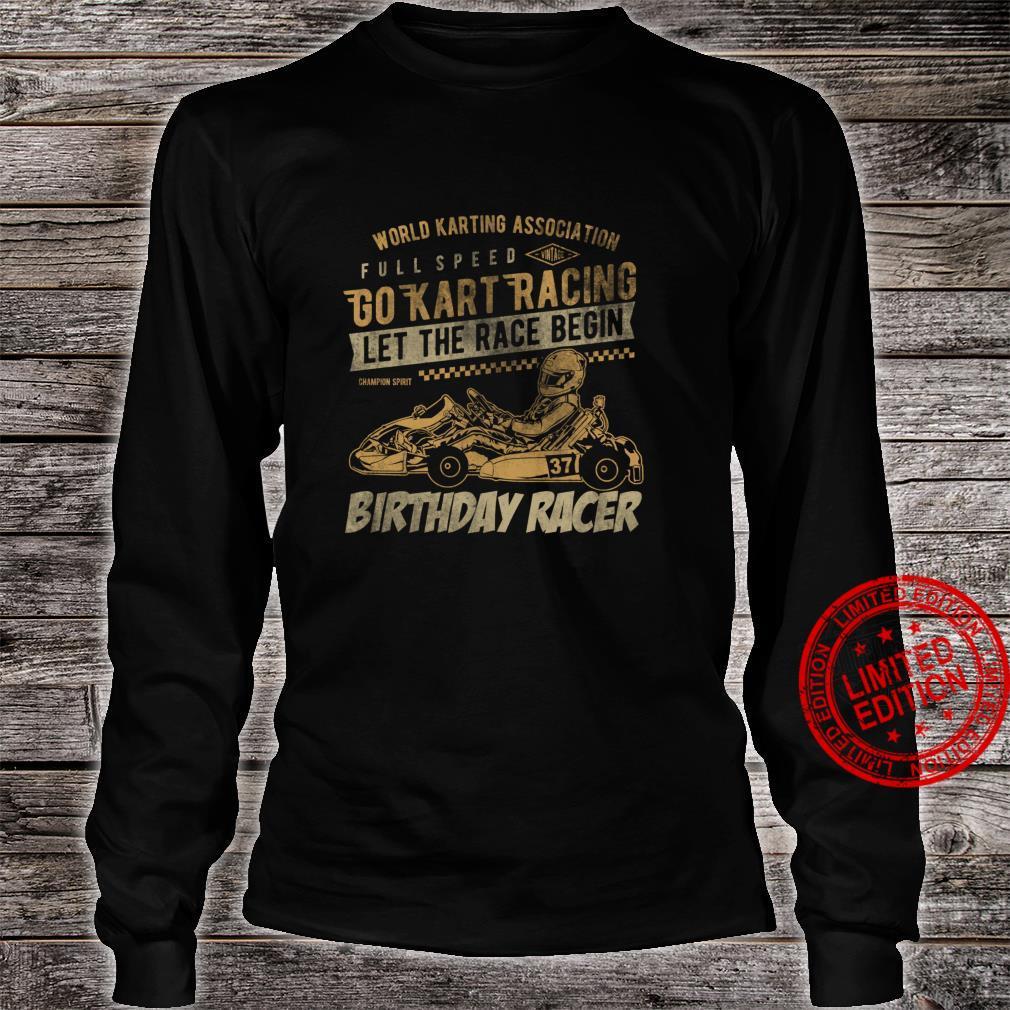 Go Kart Retro Idea Racing Racer for birthday kid Shirt long sleeved