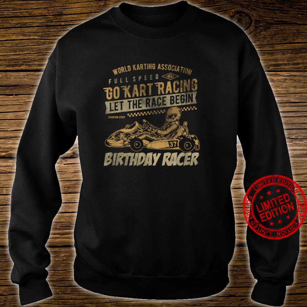 Go Kart Retro Idea Racing Racer for birthday kid Shirt sweater