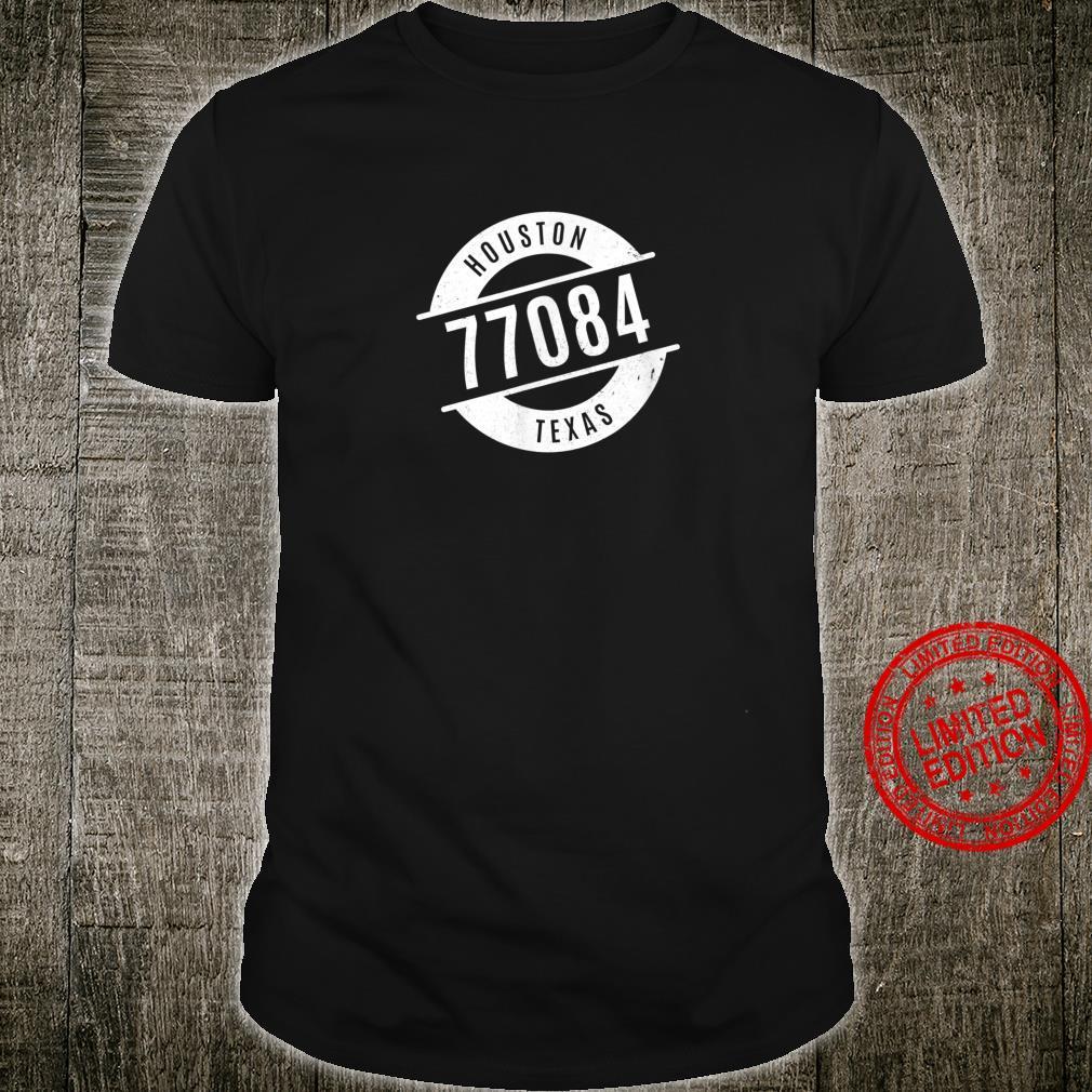 Houston Texas 77084 Code Distressed Shirt