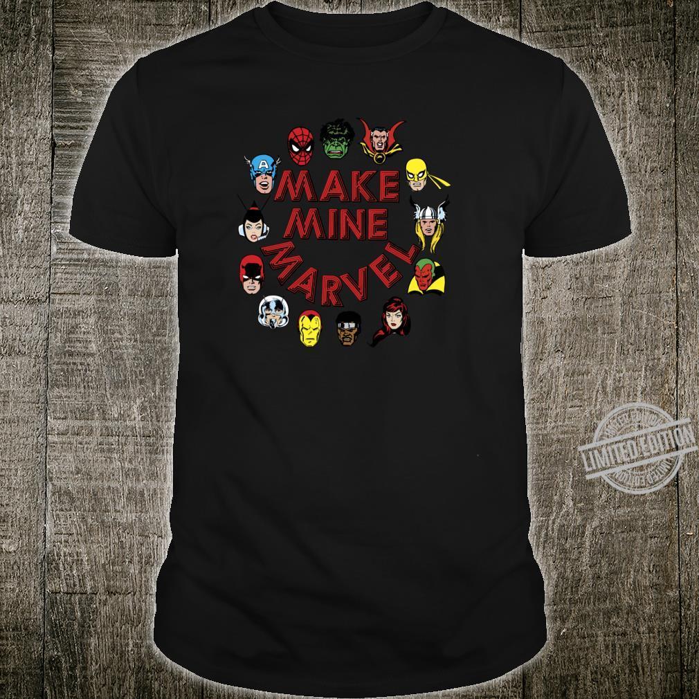 Marvel Make Mine Marvel Circle Of Heroes Shirt