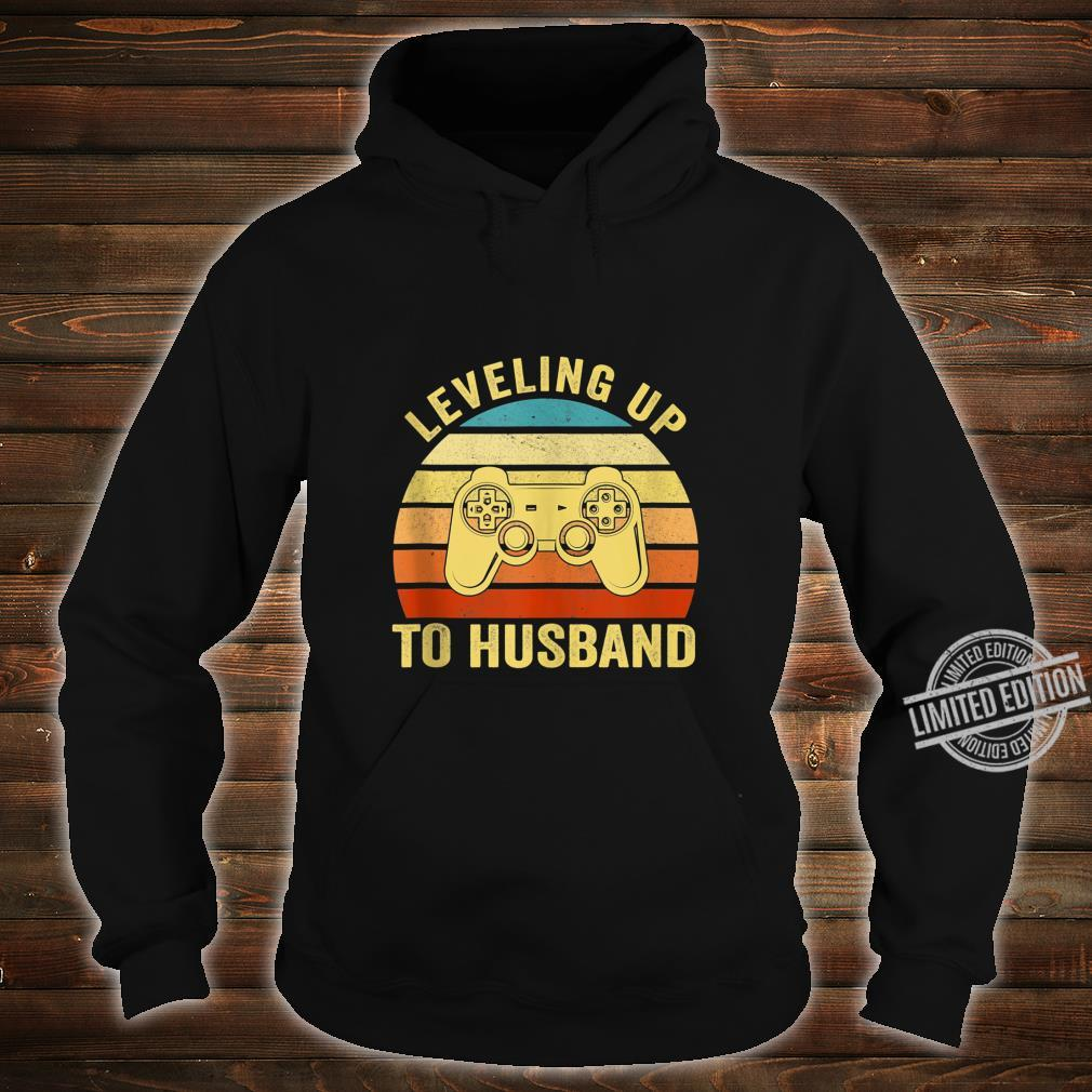 Mens Leveling Up To Husband Engagement Groom Video Games Gamer Shirt hoodie