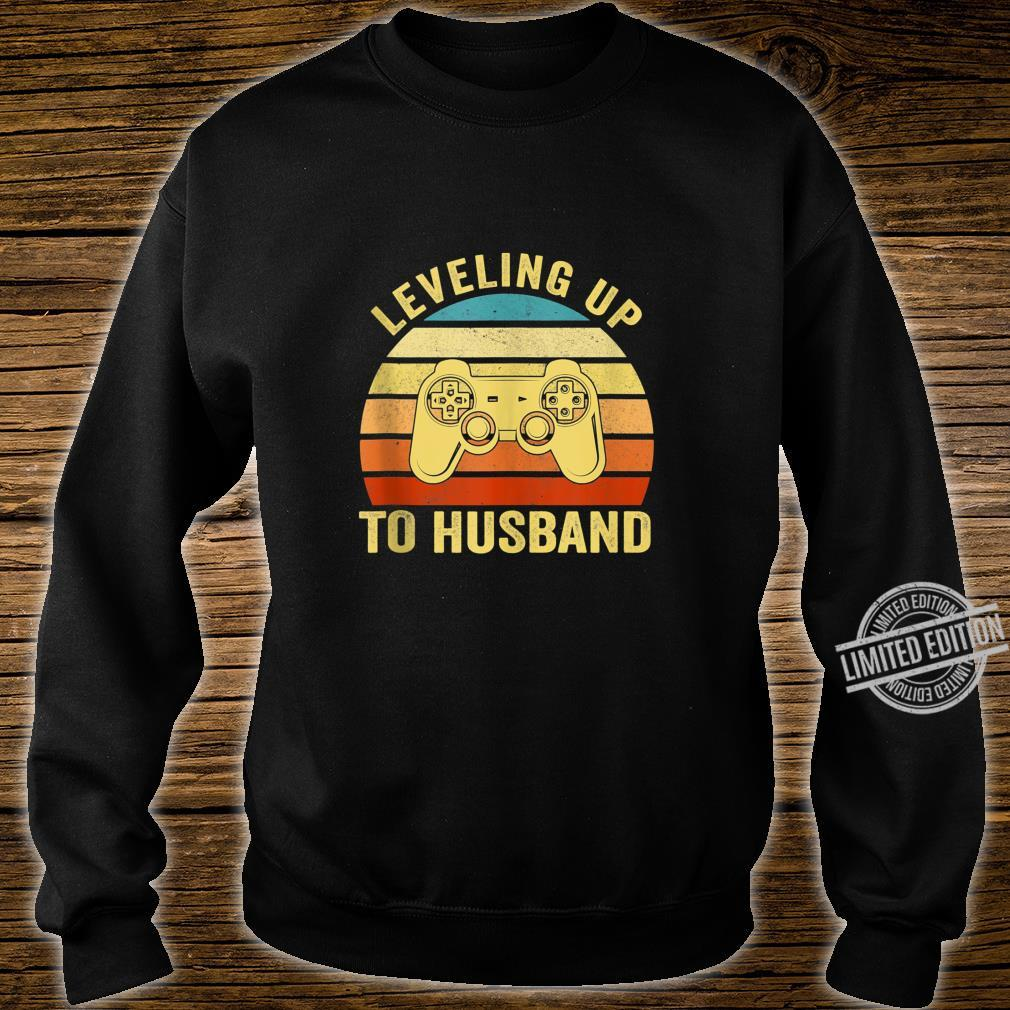 Mens Leveling Up To Husband Engagement Groom Video Games Gamer Shirt sweater