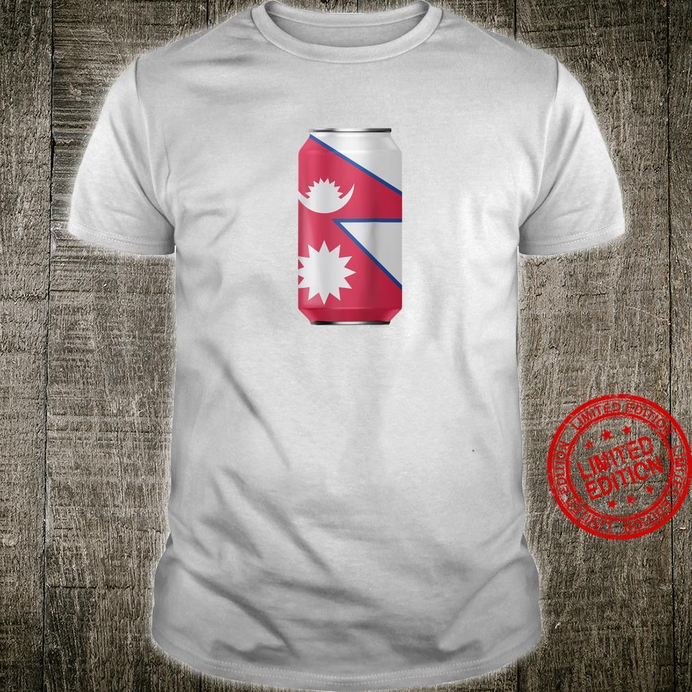 Nepal Flag Cool Drinking Can Proud Nepali Shirt