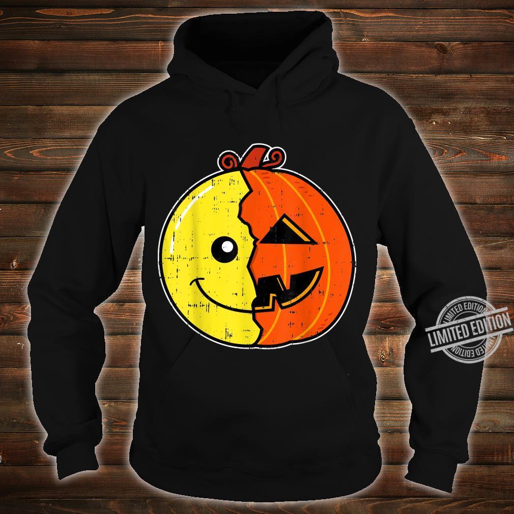 Smiling Face Emoticon Pumpkin Costume Easy Halloween Shirt hoodie