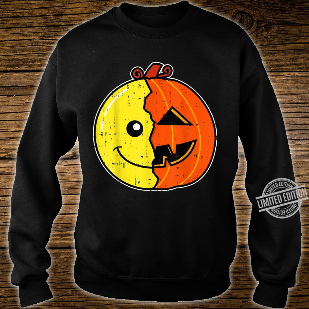 Smiling Face Emoticon Pumpkin Costume Easy Halloween Shirt sweater