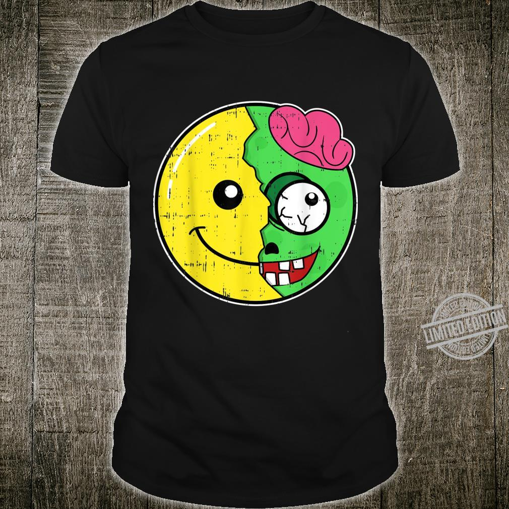 Smiling Face Emoticon Zombie Costume Easy Halloween Shirt