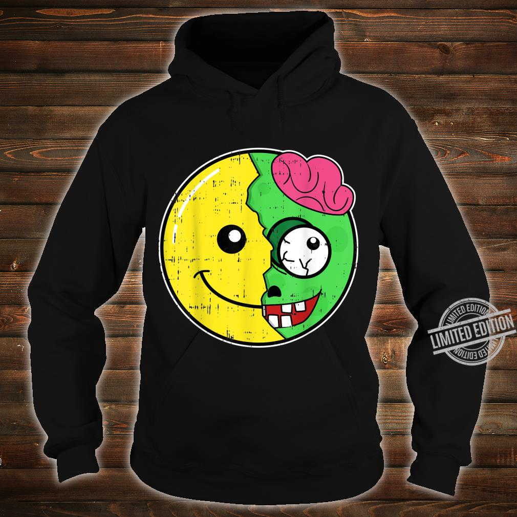 Smiling Face Emoticon Zombie Costume Easy Halloween Shirt hoodie