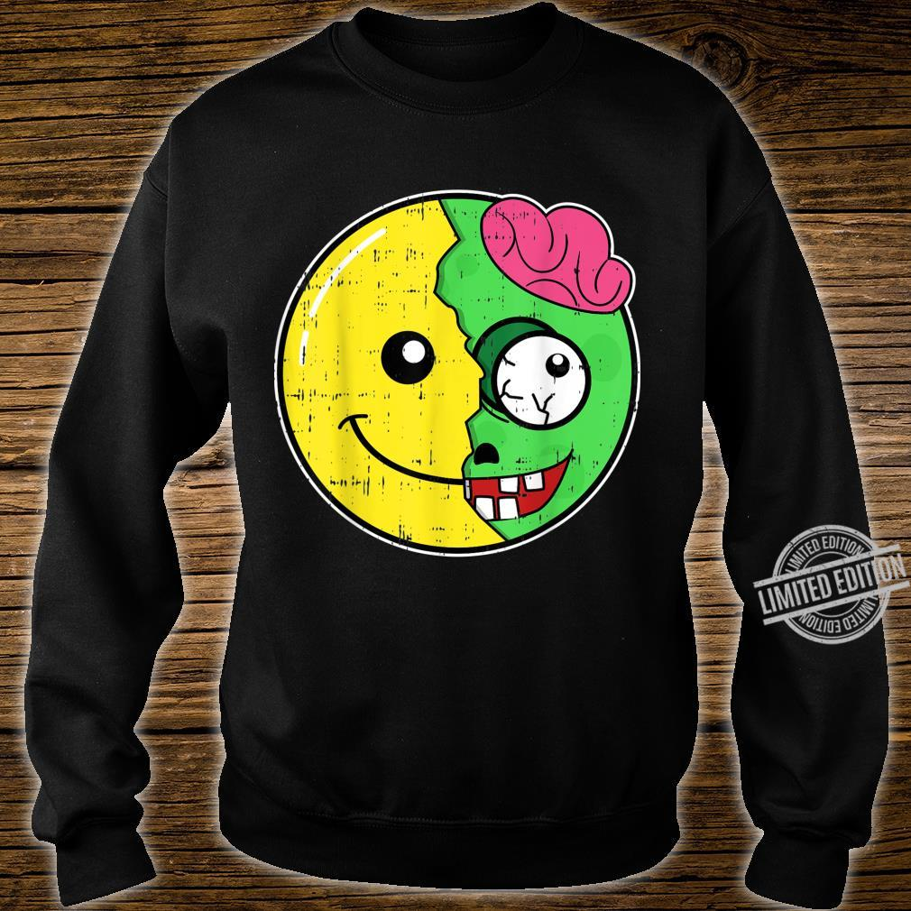Smiling Face Emoticon Zombie Costume Easy Halloween Shirt sweater