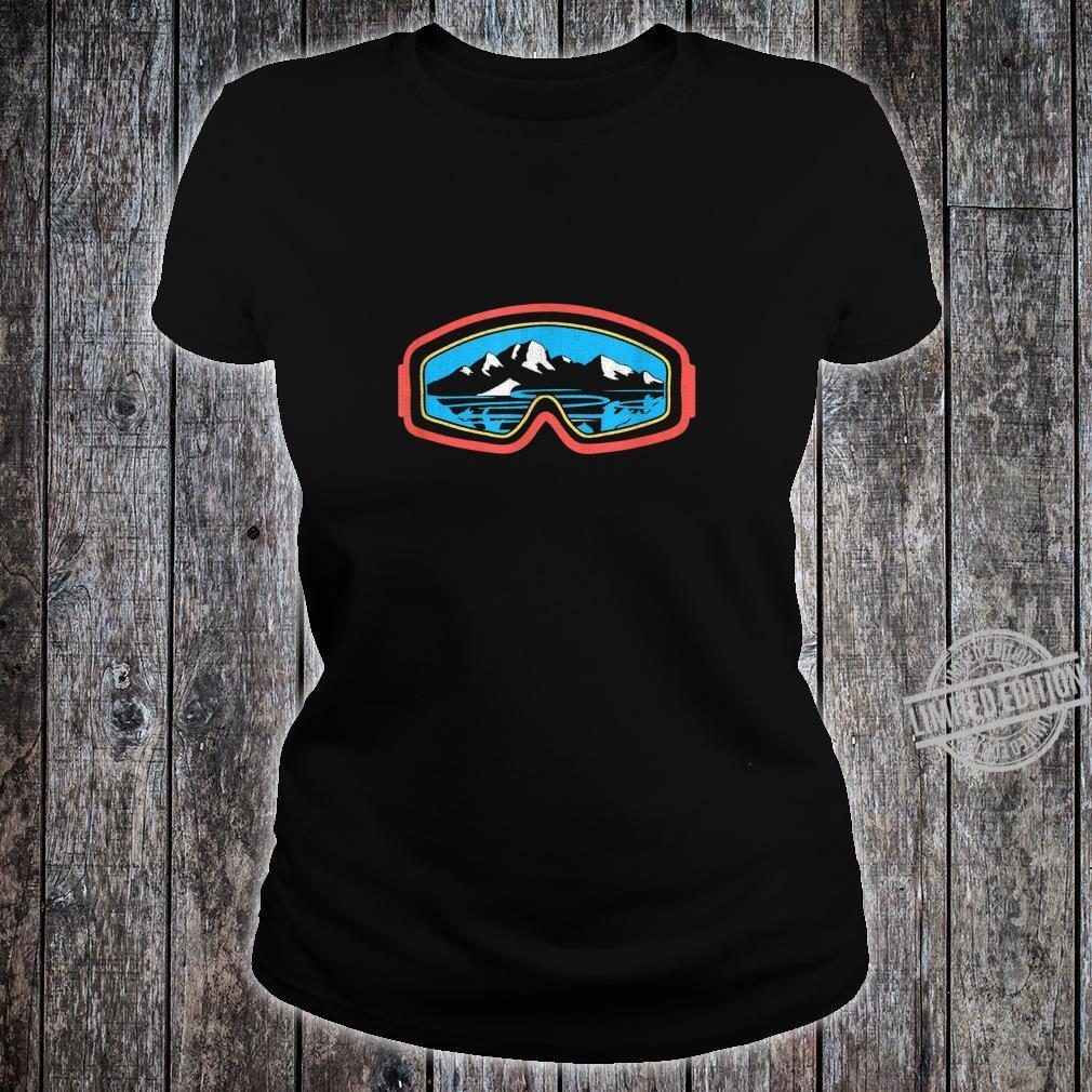 Snowboarder, Ski, Schnee und Bergliebhaber Shirt ladies tee