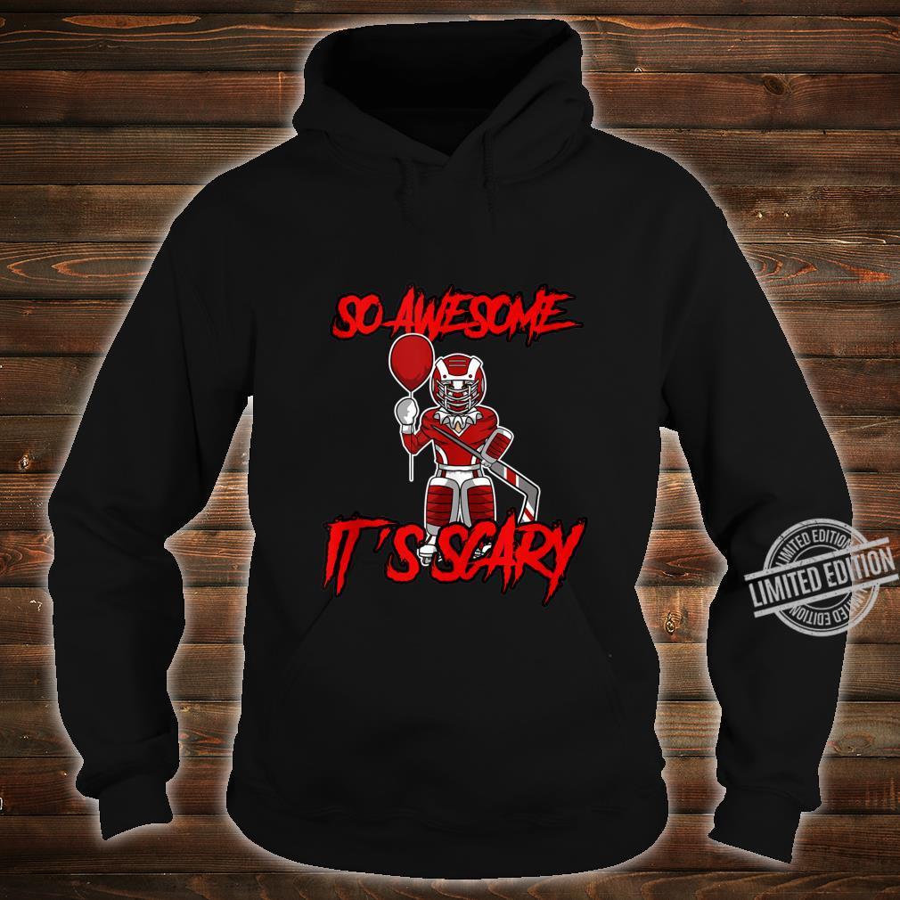 So Awesome It's Scary Halloween Clown Hockey Goalie Shirt hoodie
