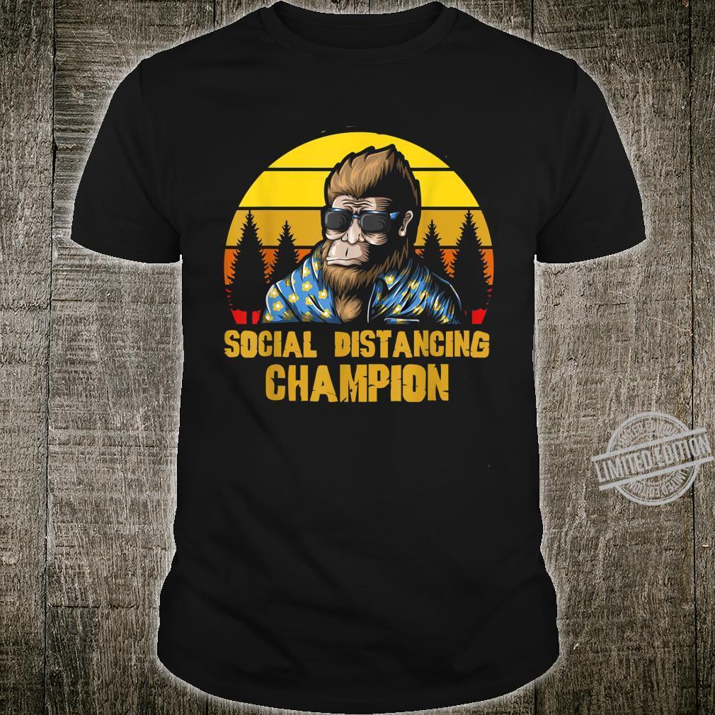 Social Distancing Champion Lustiger Retro Vintage Bigfoot Shirt