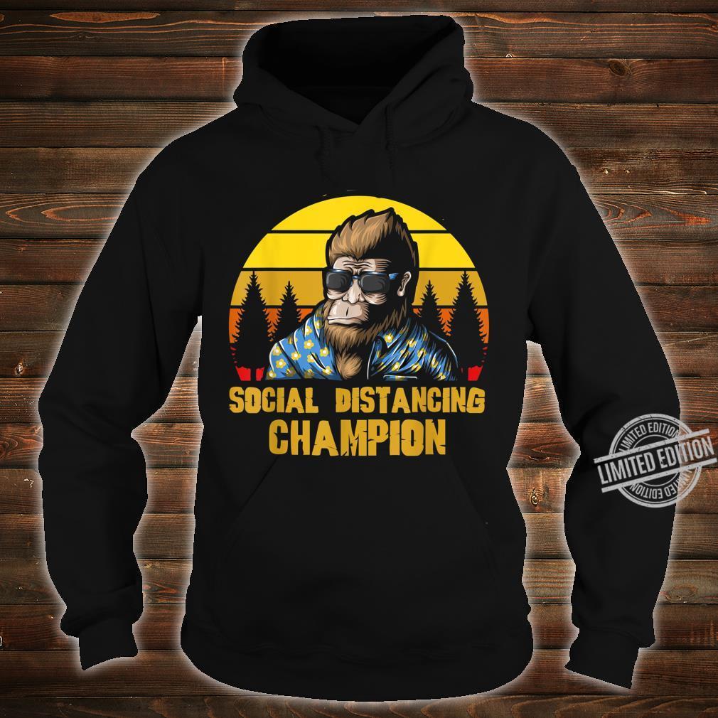 Social Distancing Champion Lustiger Retro Vintage Bigfoot Shirt hoodie