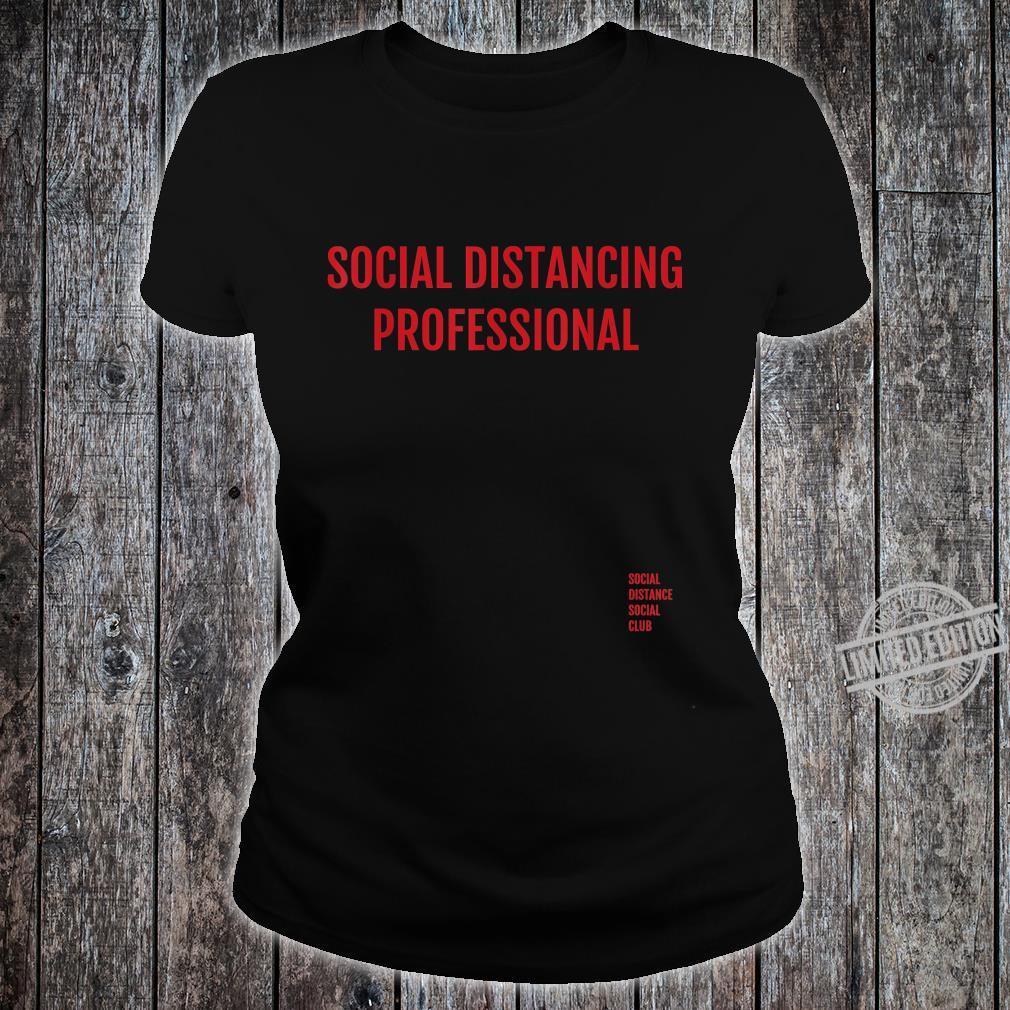Social Distancing Professional Antisocial Flu Virus Shirt ladies tee