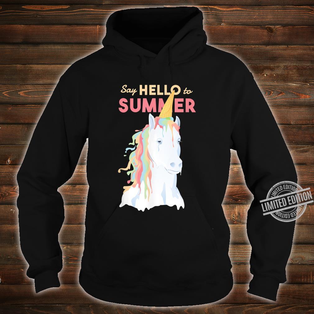 Sommer Einhorn Speiseeis Shirt hoodie