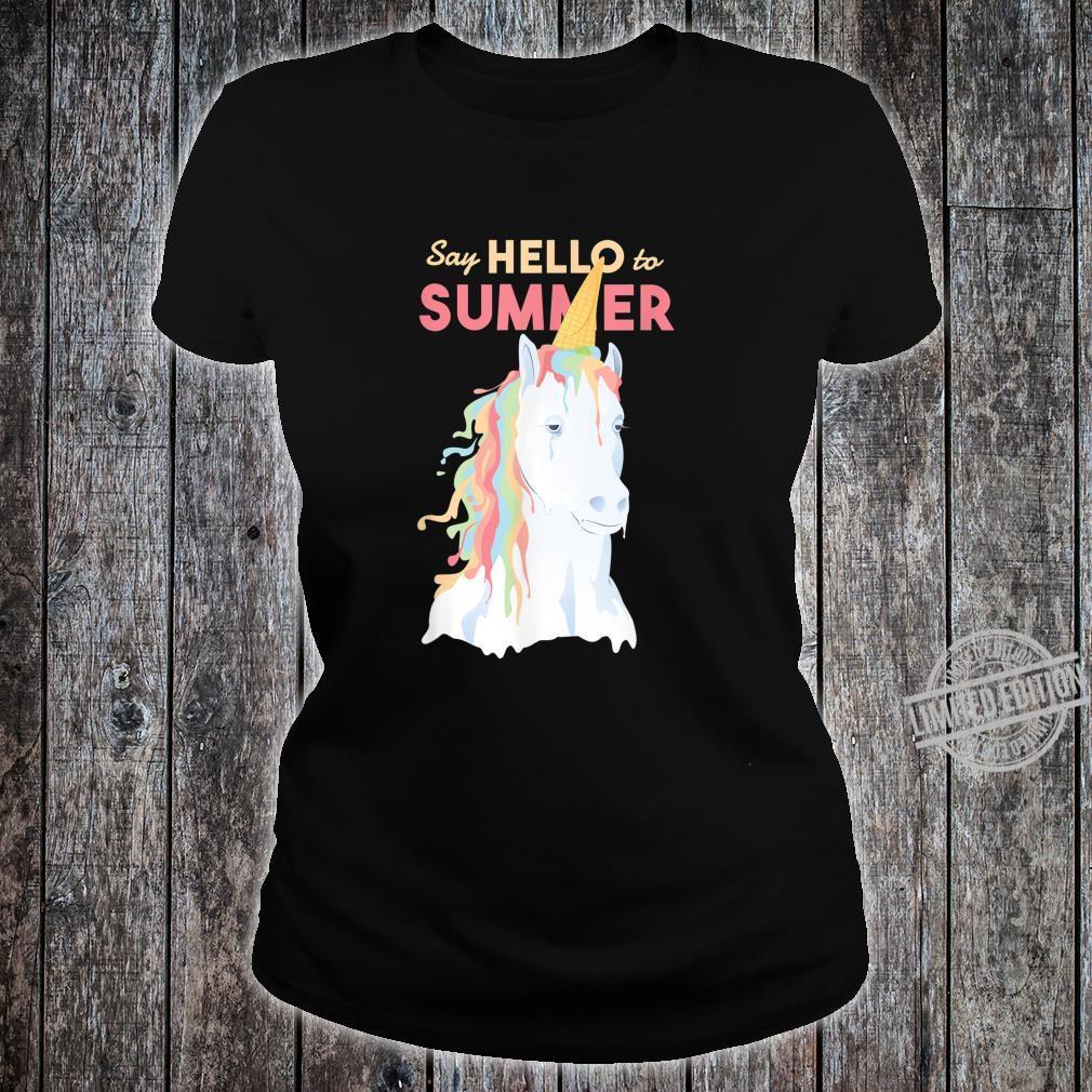 Sommer Einhorn Speiseeis Shirt ladies tee