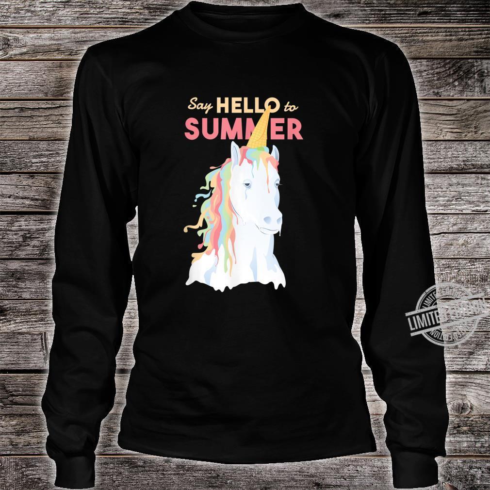 Sommer Einhorn Speiseeis Shirt long sleeved