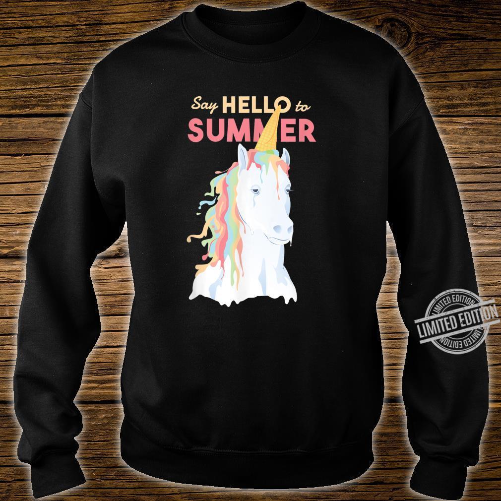 Sommer Einhorn Speiseeis Shirt sweater