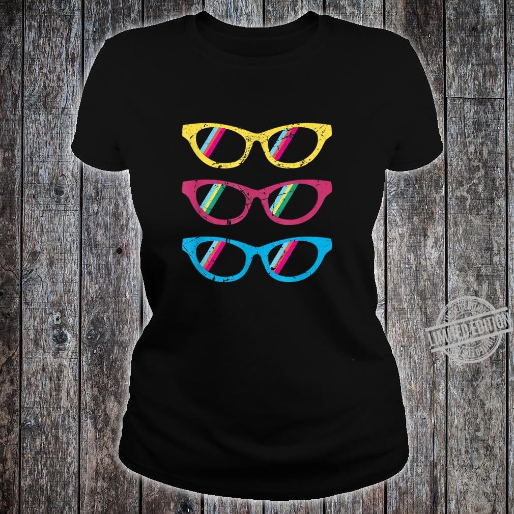 Sonnenbrillen bunt lustig Geschenk Geburtstag Mann Frau Shirt ladies tee