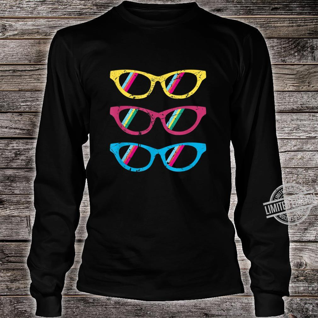 Sonnenbrillen bunt lustig Geschenk Geburtstag Mann Frau Shirt long sleeved