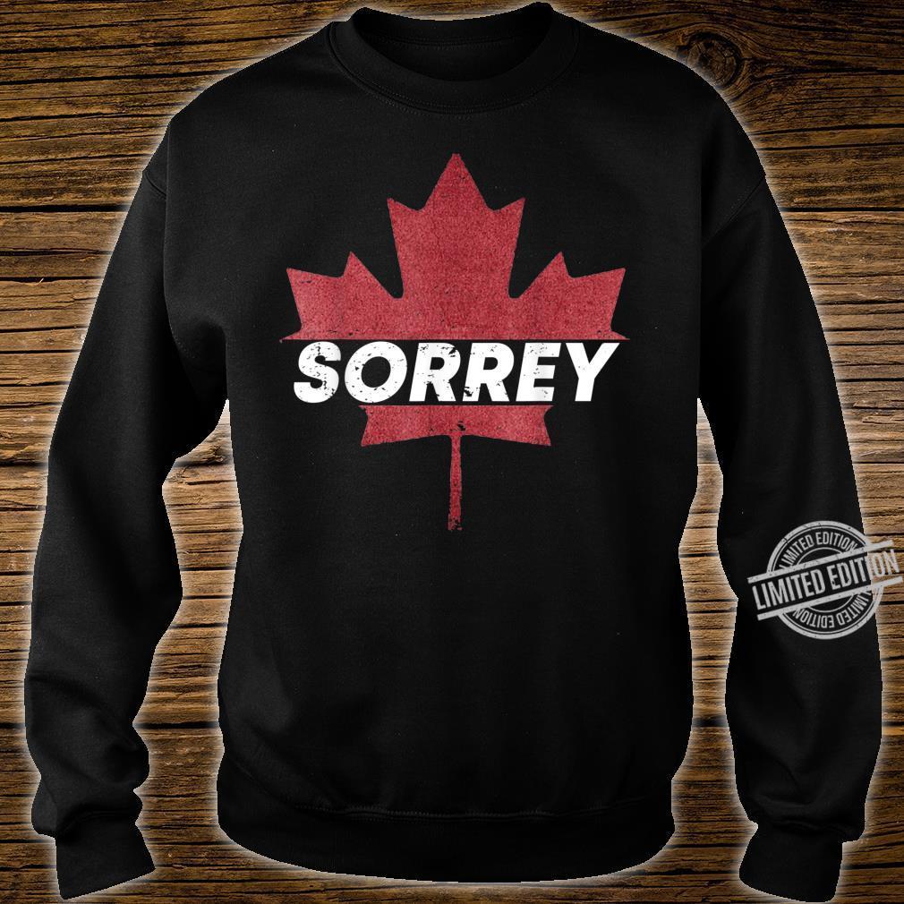 Sorrey Maple Leaf Canada Pride Vacation Travel Canadian Shirt sweater