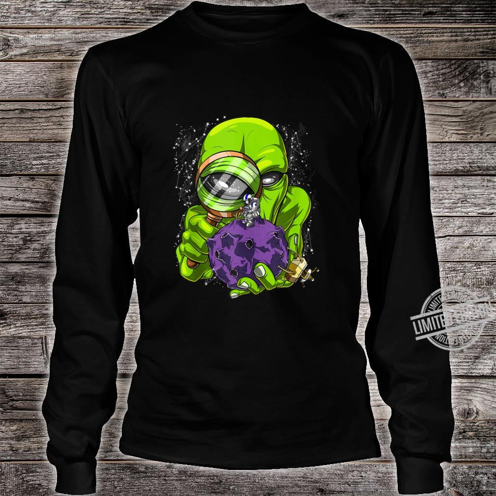 Space Alien Abduction Astronaut UFO Extraterrestrials Shirt long sleeved