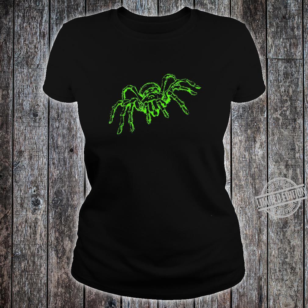Spinne Tarnatel Neongrün Insekt Shirt ladies tee