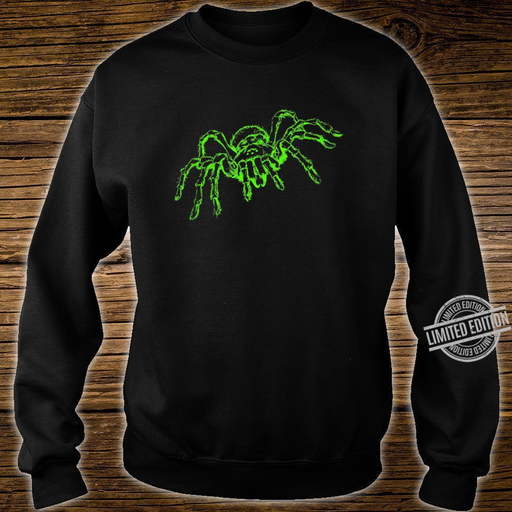 Spinne Tarnatel Neongrün Insekt Shirt sweater