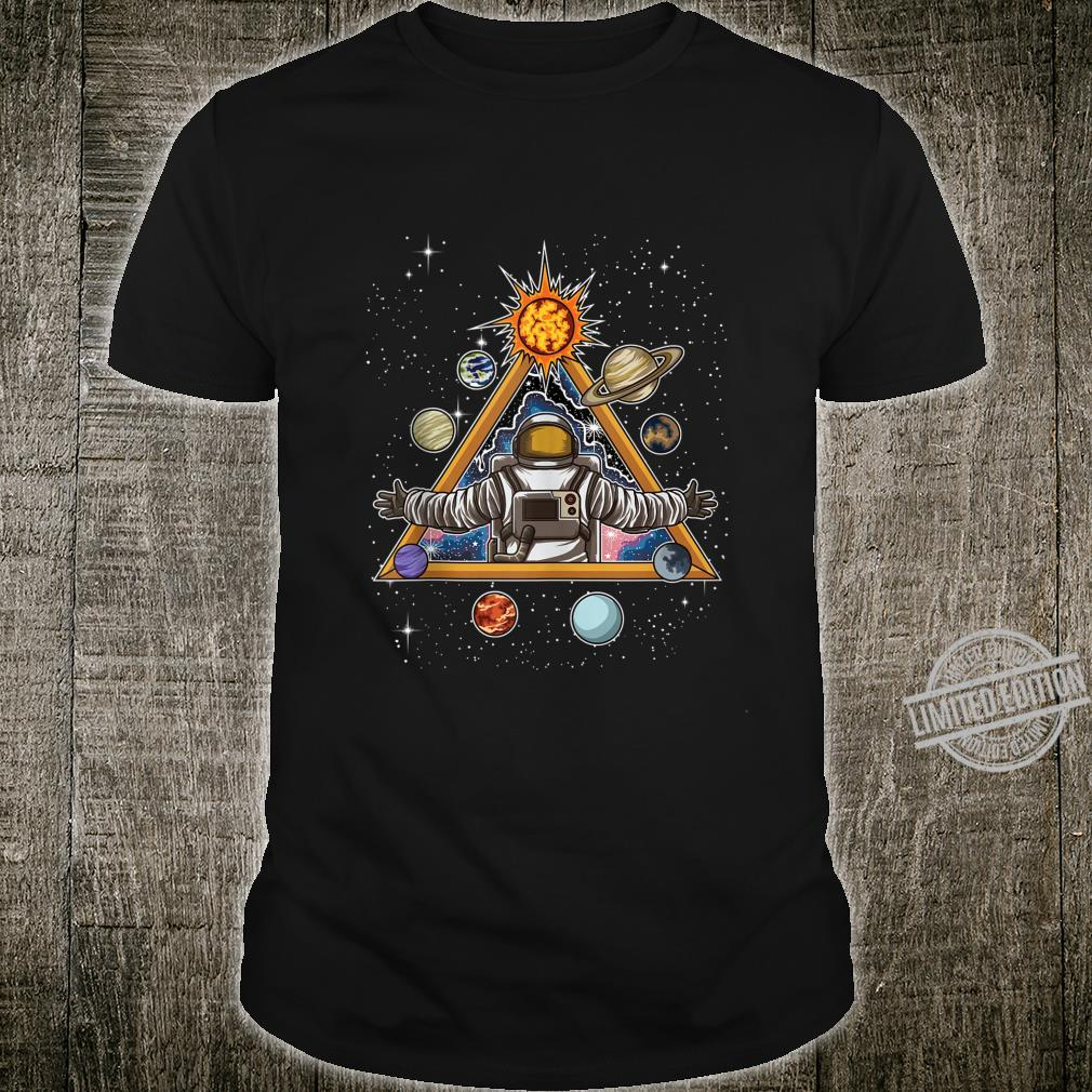 Spiritual Astronaut Meditates In Space And feels The Galaxy Shirt