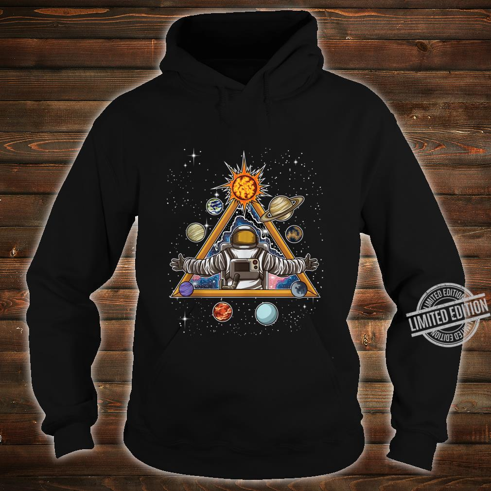 Spiritual Astronaut Meditates In Space And feels The Galaxy Shirt hoodie