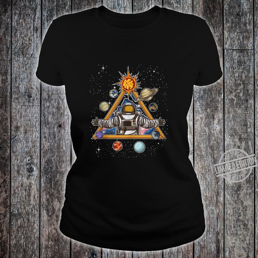 Spiritual Astronaut Meditates In Space And feels The Galaxy Shirt ladies tee