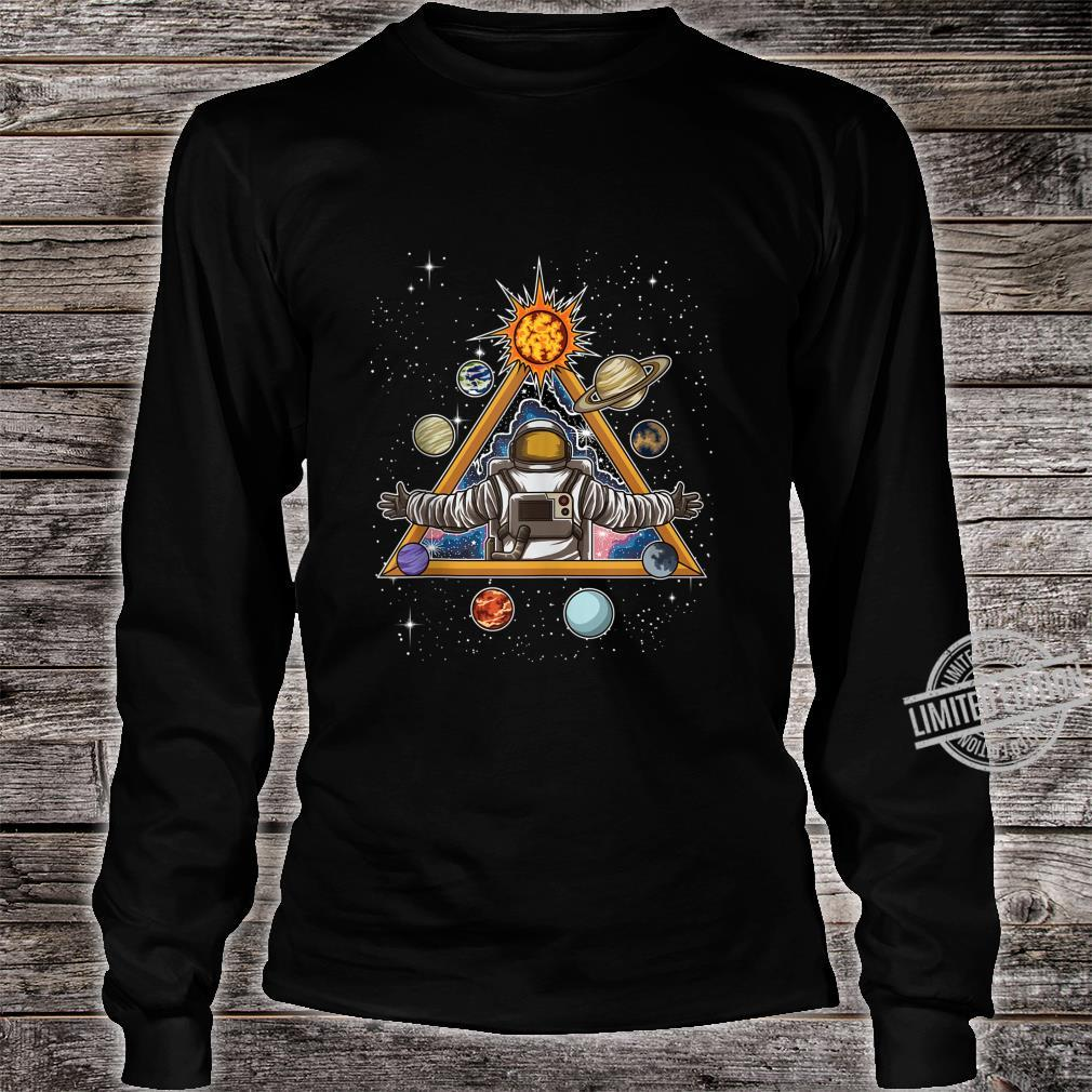 Spiritual Astronaut Meditates In Space And feels The Galaxy Shirt long sleeved