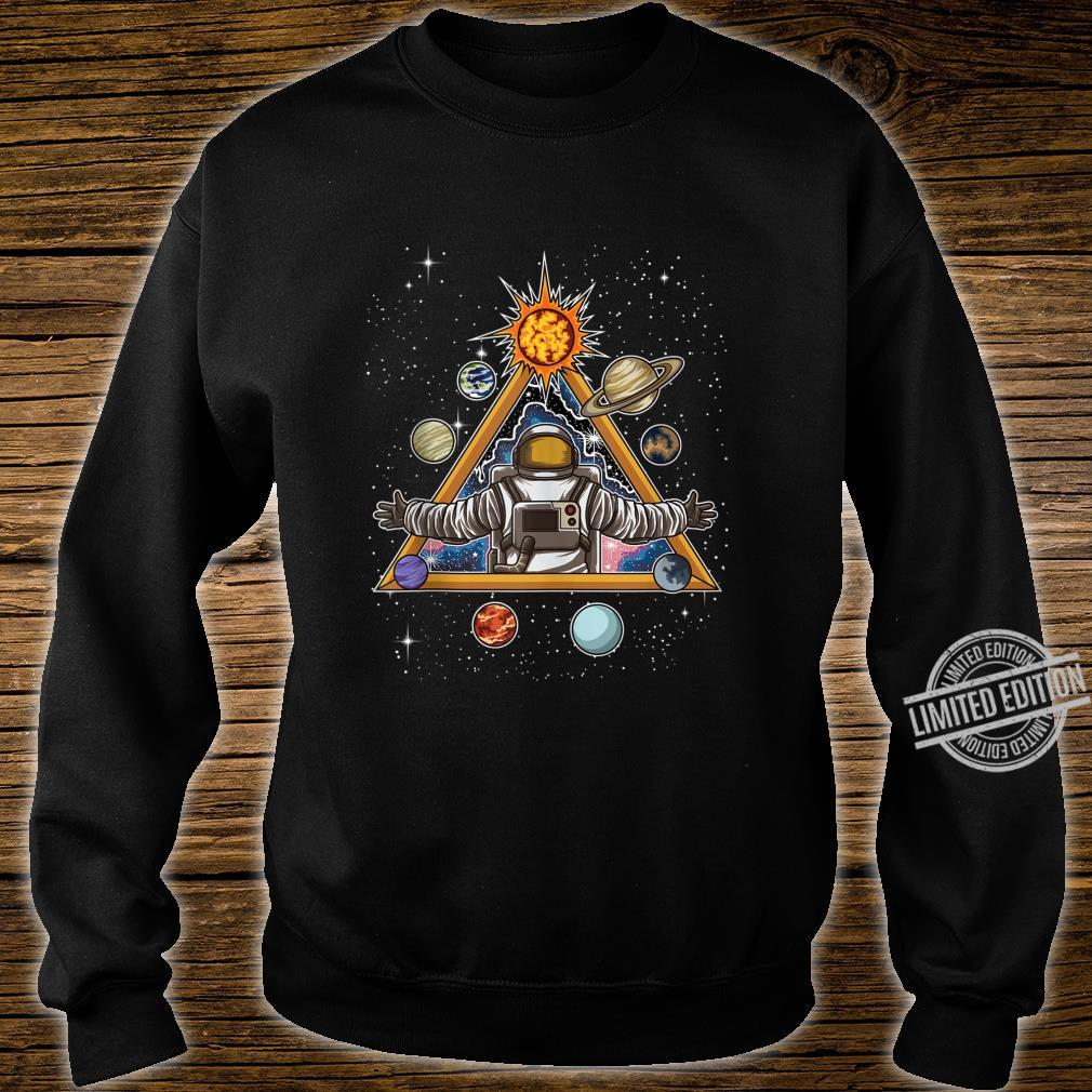 Spiritual Astronaut Meditates In Space And feels The Galaxy Shirt sweater