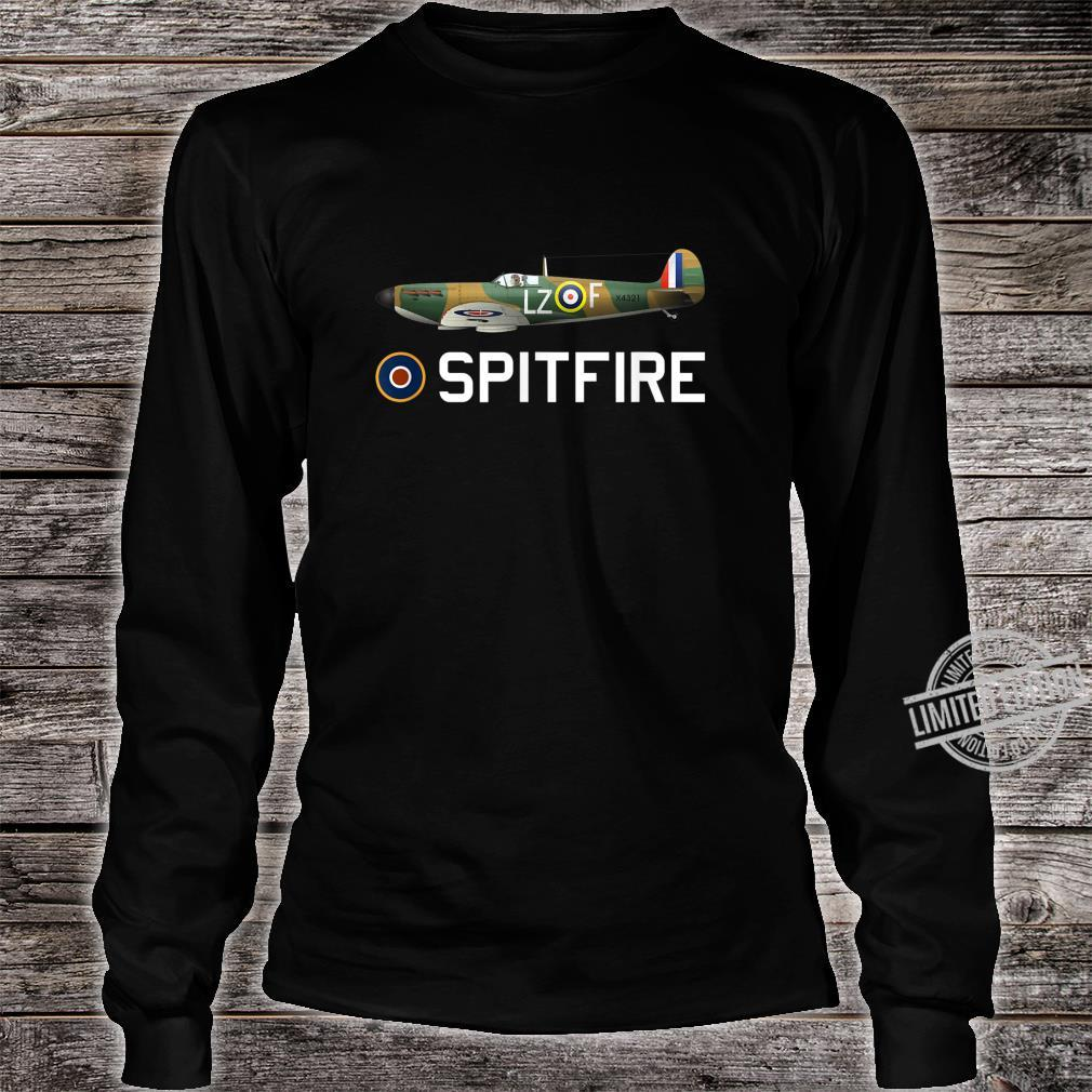 Spitfire WW2 RAF Fighter Aircraft Plane Shirt long sleeved