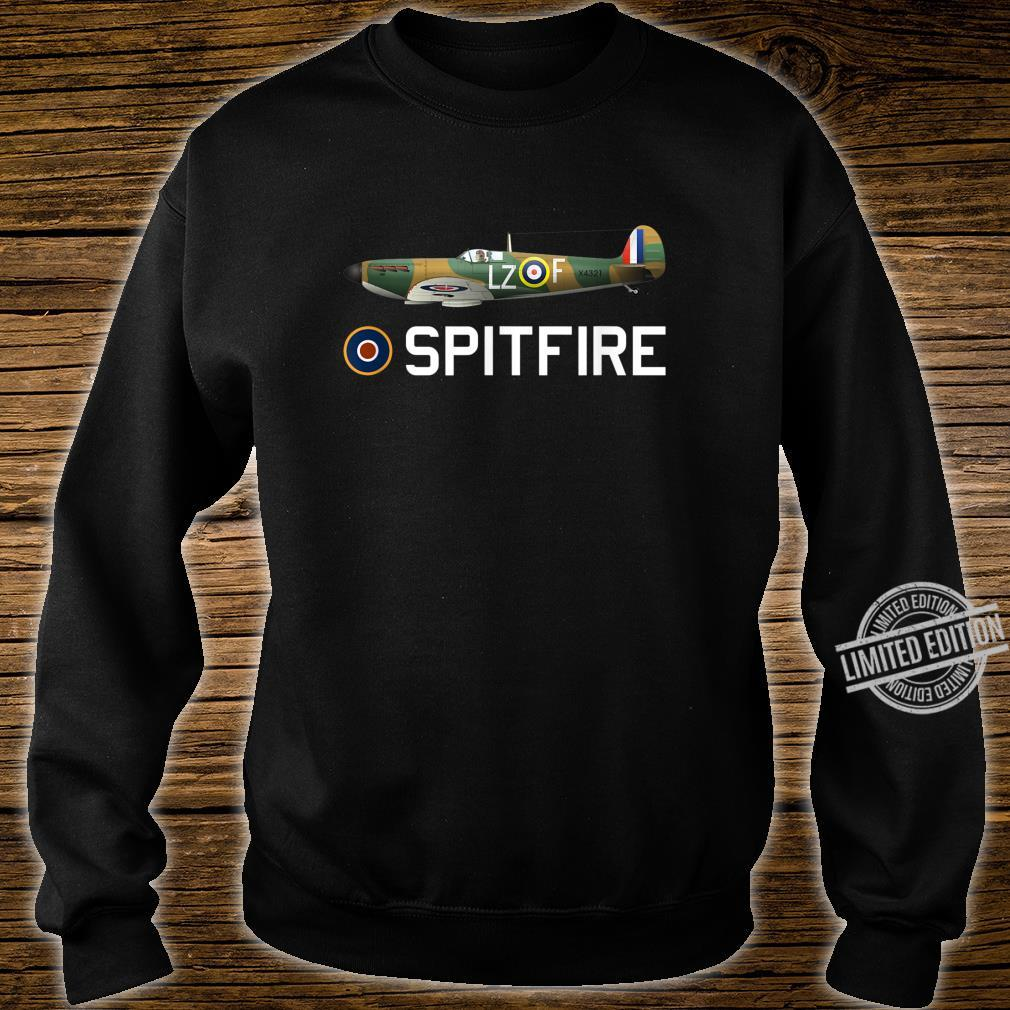 Spitfire WW2 RAF Fighter Aircraft Plane Shirt sweater