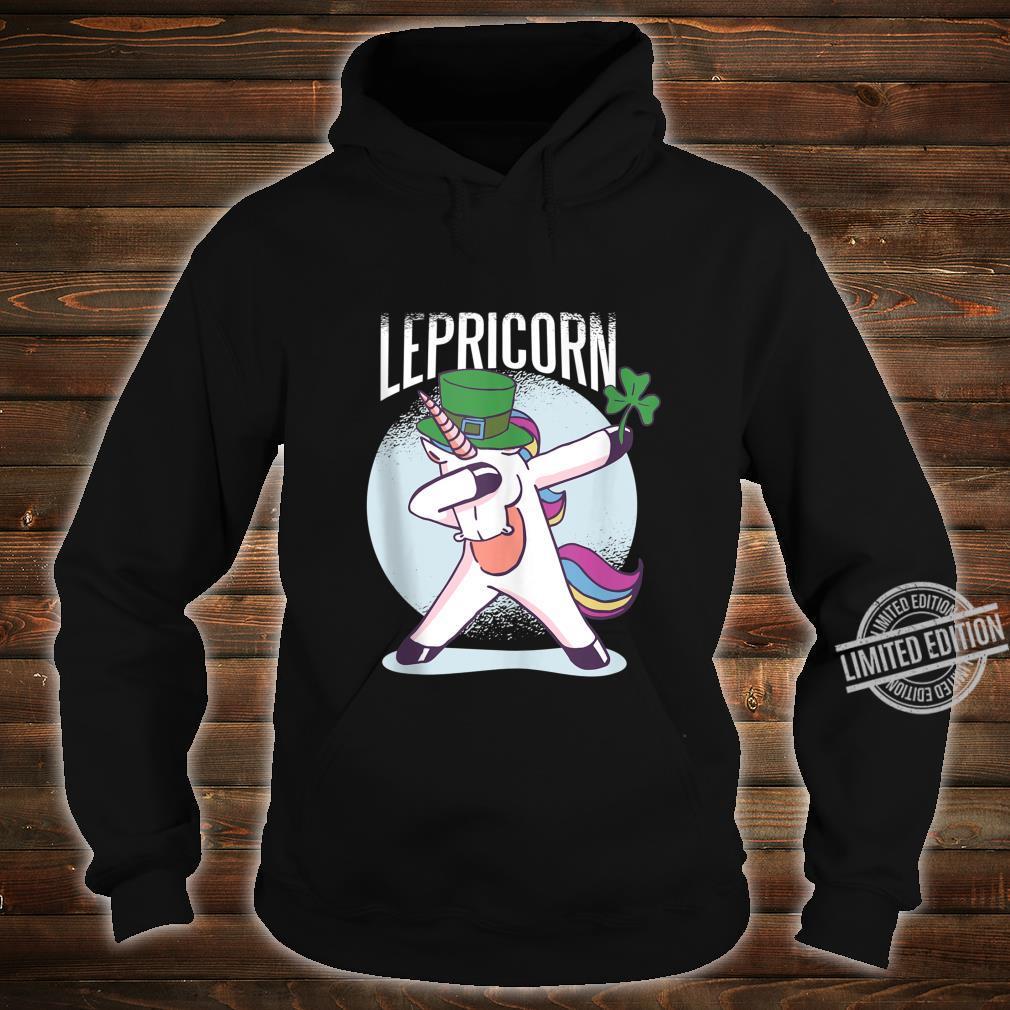 St. Patricks Day Shirt Dabbing Lepricorn Unicorn Leprechaun Shirt hoodie