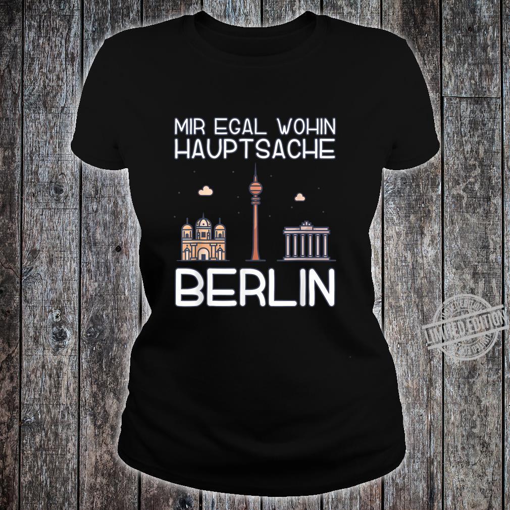 Stadt Reisen Städtereisen Kleidung Skyline Geschenk Berlin Shirt ladies tee