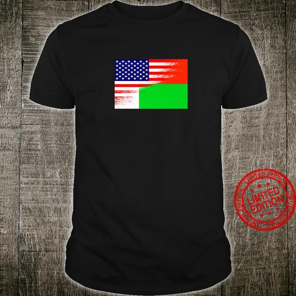 USA Madagascar Flag Ancestry Heritage Pride Native African Shirt